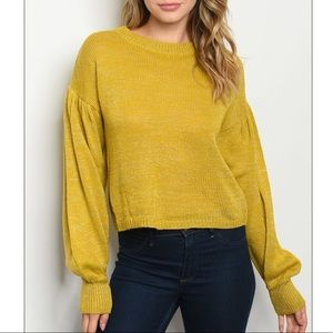 Mustard crewneck sweater